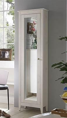 hochschrank mit spiegel massivholz bad hochschrank kiefer massiv wei 223 lasiert flur