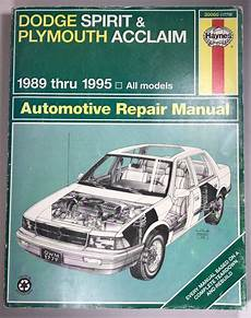 online car repair manuals free 1993 plymouth acclaim electronic throttle control haynes repair manual dodge spirit plymouth acclaim 1989 thru 1995 30060 auto dodge spirit