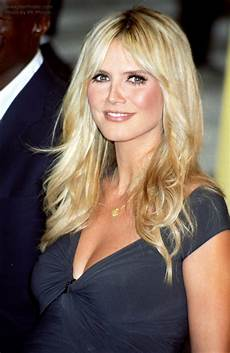 Heidi Klum Haare - heidi klum billowing hair with tapered sides and a