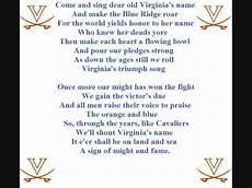 Virina Malvorlagen Lyrics Virginia Cavs Fight Song