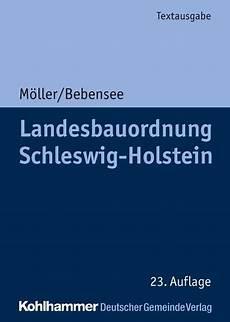 Landesbauordnung Schleswig Holstein M 246 Ller Bebensee
