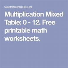algebra worksheets sheet 8351 multiplication mixed table 0 12 free printable math worksheets multiplication table math