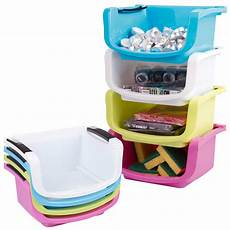 Kitchen Counter Gifts by Plastic Stacking Storage Basket Shelves Kitchen Office