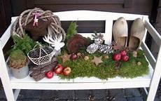 Garten Weihnachtlich Dekorieren - gartenbank weihnachtlich dekoriert deko drau 223 en