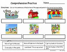 freebie reading comprehension cut and paste by kris rushing tpt