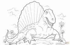 ausmalbild dimetrodon dinosaurier ausmalbilder