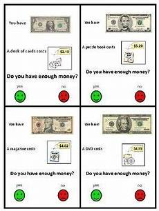 money worksheets do i enough 2107 do i enough freebie money task cards with images money task cards money skills