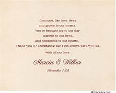 thank you card template for comming to event ruby chintz thank you card 40th anniversary design