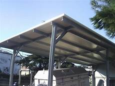copertura trasparente per tettoia affordable finest tettoia copertura macchine struttura in