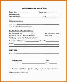 7 payroll change form template simple salary