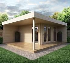 modernes gartenhaus mit terrasse hansa lounge gartenhaus
