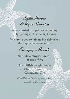 wedding receptions templates reception invitation wording after a private wedding ceremony