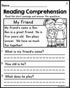 kindergarten reading comprehension passages 1 freebie reading comprehension worksheets