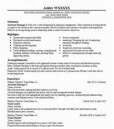 assistant manager 2 objectives resume objective livecareer