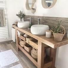 faire meuble de salle de bain plan vasque en bois naturel id 233 es en 32 photos