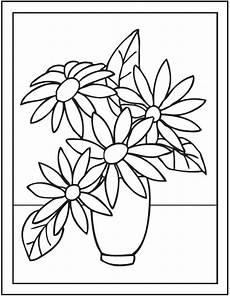 Kumpulan Sketsa Gambar Bunga Hitam Putih Untuk Diwarnai