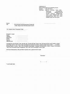 contoh surat keterangan pembatalan faktur pajak