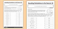 rounding calculations to the nearest 10 worksheet number