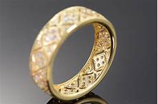 14k 4 3g 1 00 ctw cubic zirconia filigree wedding band yellow gold ring size 9 property room