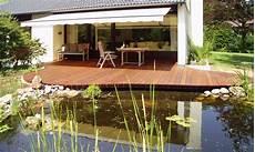 18 Holzterrasse Mit Teich Garten Gestaltung