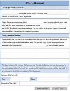 divorce dismissal form editable forms