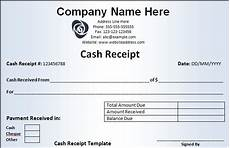 receipt template free word templates