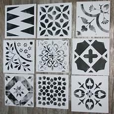 carreaux de ciment la nouvelle collection de pochoirs