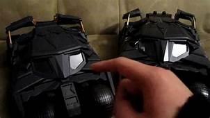 Review  Batmobile Toy Comparison Batman Begins & The