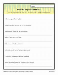 write a compund sentence sentence structure worksheets