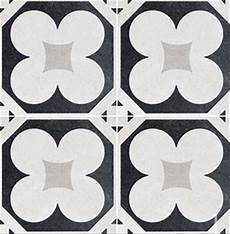 carrelage aspect carreau ciment cement 20 black white 4