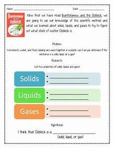 oobleck experiment worksheet by wagner teachers pay teachers