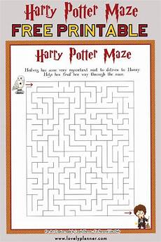 harry potter maze free printable kids activity sheet harry potter party ideas printables
