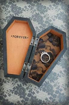forever halloween wedding ring bearer coffin monogrammed pillow alternative ring box 2150286