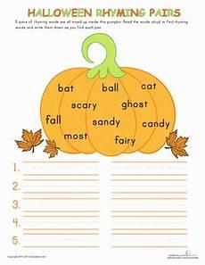 halloween rhymes worksheet education com