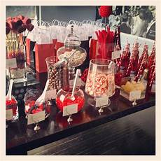 bridal shower black white and red candy bar take out