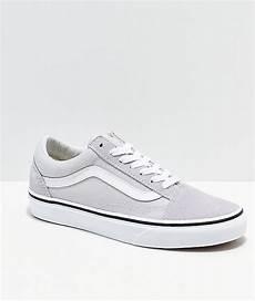 vans skool gray white shoes zumiez