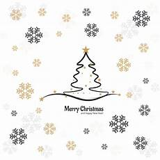 elegant merry christmas tree card with snowflake design download free vectors clipart