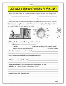 physical science light worksheet answers 13130 cosmos episode 5 hiding in the light worksheet 2014 conceptual science lessons