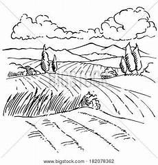 landscape ink sketch vector photo free trial bigstock