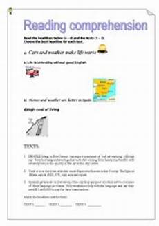 worksheets a1 18776 worksheets reading comprehension a1 headlines and articles
