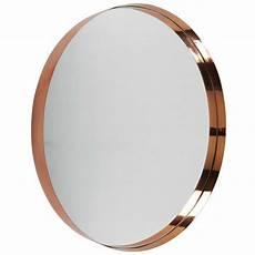miroir rond metal miroir rond en m 233 tal cuivr 233 d 90cm emmy maisons du monde
