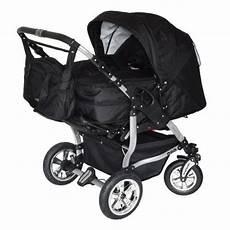 adbor duo 3in1 zwillingskinderwagen mit babyschalen