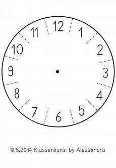 bastelvorlage uhr clock template by klassenkunst tpt