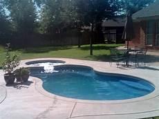 modern freeform viking pool