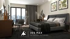 3ds max 2018 bedroom interior tutorial modeling design vray render photoshop youtube