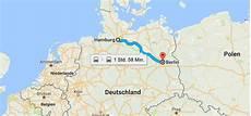 Hamburg Berlin Maps Zug Entfernung