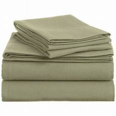 home flannel sheet set solid green full bed size sheets