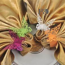 wholesale big butterfly shaped napkin rings wedding party