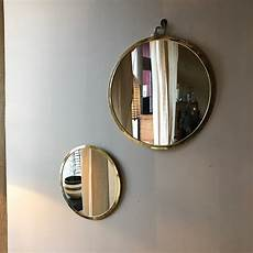 miroir rond metal miroir rond disponible en plusieurs tailles avec cerclage