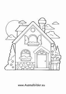 Ausmalbilder Haus Und Garten Ausmalbild Haus Mit Garten Kostenlos Ausdrucken